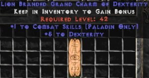 Paladin Combat Skills w/ 3-5 Dex GC