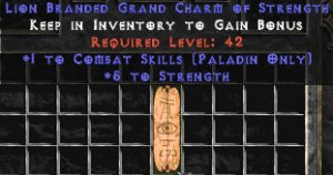 Paladin Combat Skills w/ 3-5 Str GC