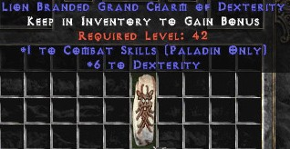 Paladin Combat Skills w/ 6 Dex GC