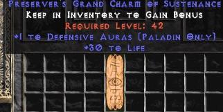 Paladin Defensive Auras w/ 30 Life GC