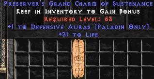 Paladin Defensive Auras w/ 31-34 Life GC