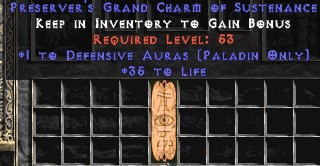 Paladin Defensive Auras w/ 35 Life GC