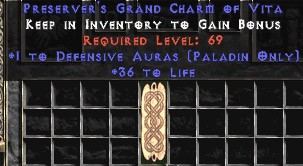 Paladin Defensive Auras w/ 36-39 Life GC