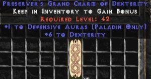 Paladin Defensive Auras w/ 6 Dex GC