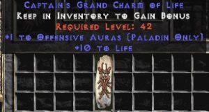 Paladin Offensive Auras w/ 10-20 Life GC