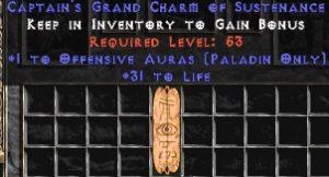 Paladin Offensive Auras w/ 31-34 Life GC