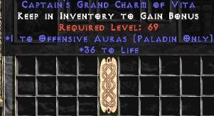 Paladin Offensive Auras w/ 36-39 Life GC