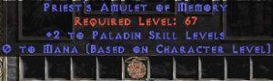 Paladin Amulet - 2 All Pal Skills & 0.75 MPL