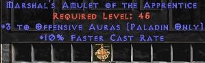 Paladin Amulet - 3 Offensive Auras & 10% FCR