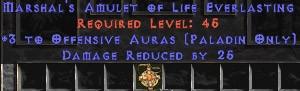 Paladin Amulet - 3 Offensive Auras & 25 PDR