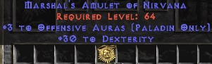 Paladin Amulet - 3 Offensive Auras & 30 Dex