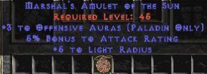 Paladin Amulet - 3 Offensive Auras & 5% AR