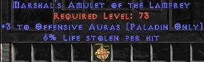 Paladin Amulet - 3 Offensive Auras & 6% LL