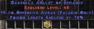 Paladin Amulet - 3 Offensive Auras & 75% PLR