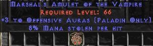 Paladin Amulet - 3 Offensive Auras & 8% ML