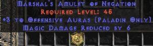 Paladin Amulet - 3 Offensive Auras & 6 MDR