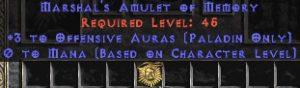 Paladin Amulet - 3 Offensive Auras & 0.75 MPL
