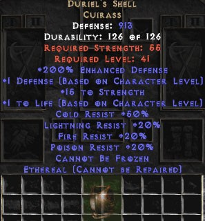 Duriel's Shell - Ethereal - 200% ED - Perfect
