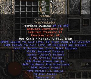 Phoenix Crusader Bow - 350-379% ED