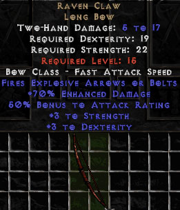 Raven Claw - +70% ED - Perfect