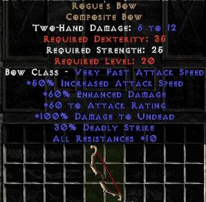 Rogue's Bow - +60% ED - Perfect