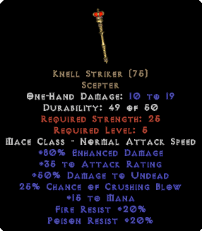 Knell Striker - +80% ED - Perfect