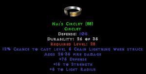 Naj's Circlet - 105 Def