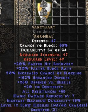 Sanctuary Kite Shield - 50-59 Res