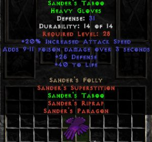 Sander's Taboo