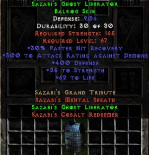 Sazabi's Ghost Liberator - 900-916 Def