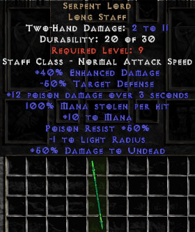 Serpent Lord - +40% ED - Perfect