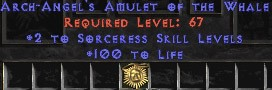 Sorceress Amulet - 2 All Sorc Skills & 100 Life