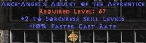 Sorceress Amulet - 2 All Sorc Skills & 10% FCR