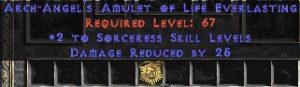 Sorceress Amulet - 2 All Sorc Skills & 25 PDR
