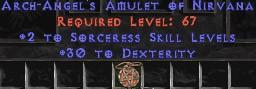 Sorceress Amulet - 2 All Sorc Skills & 30 Dex