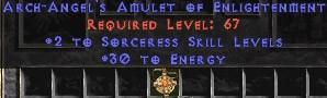 Sorceress Amulet - 2 All Sorc Skills & 30 Energy