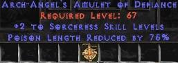 Sorceress Amulet - 2 All Sorc Skills & 75% PLR