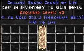 Sorceress Cold Skills w/ 10-20 Life GC