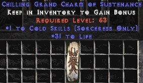 Sorceress Cold Skills w/ 31-34 Life GC