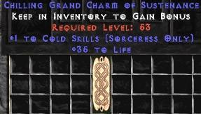 Sorceress Cold Skills w/ 35 Life GC
