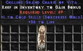 Sorceress Cold Skills w/ 36-39 Life GC