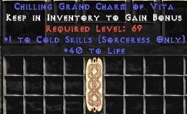 Sorceress Cold Skills w/ 40 Life GC