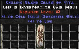Sorceress Cold Skills w/ 41-44 Life GC
