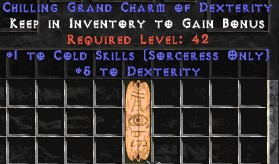 Sorceress Cold Skills w/ 3-5 Dex GC