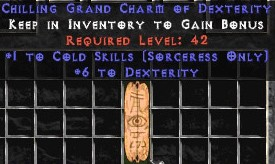 Sorceress Cold Skills w/ 6 Dex GC