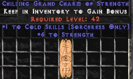 Sorceress Cold Skills w/ 6 Strength GC