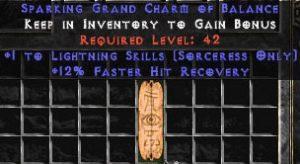 Sorceress Lightning Skills w/ 12% FHR GC