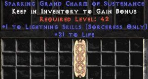 Sorceress Lightning Skills w/ 21-29 Life GC