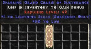 Sorceress Lightning Skills w/ 30 Life GC