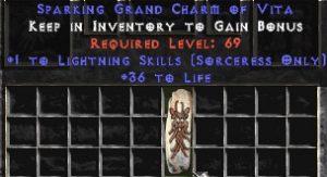 Sorceress Lightning Skills w/ 36-39 Life GC